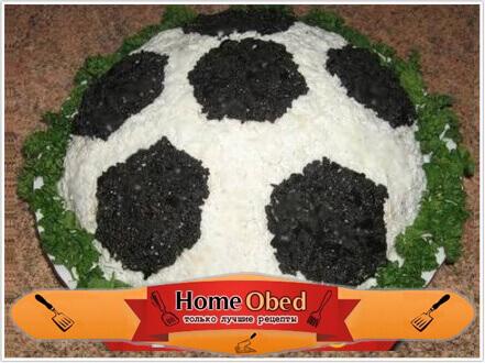 Приготовление салата «Футбол»