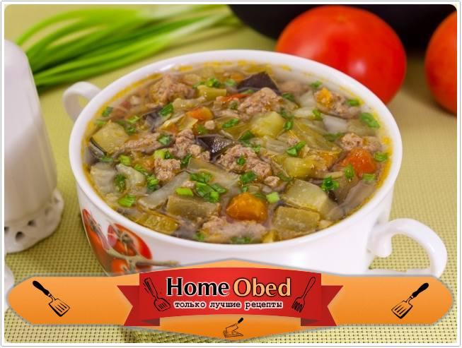 Овощной суп с фаршем