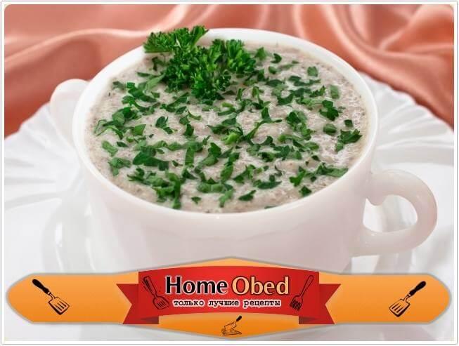 Суп-пюре с шампиньонами и картофелем