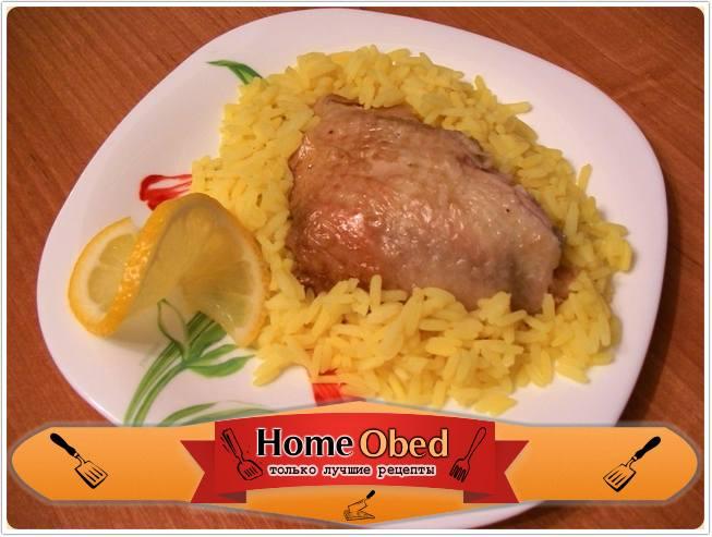 Курица, маринованная в лимонном соке, жаренная в рукаве