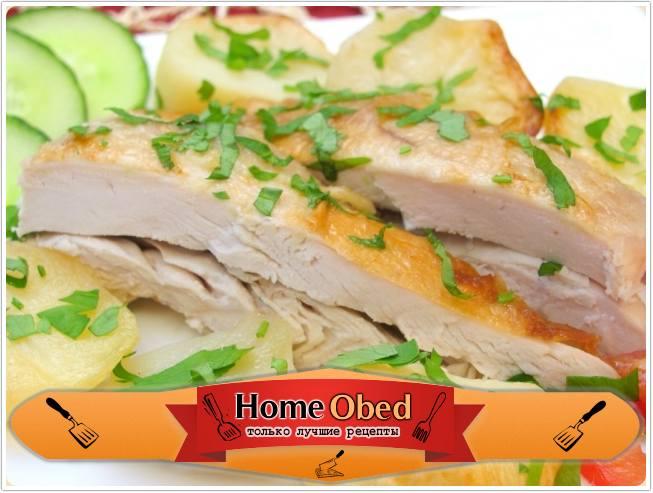 Курица с картофелем, запеченные в «рукаве»